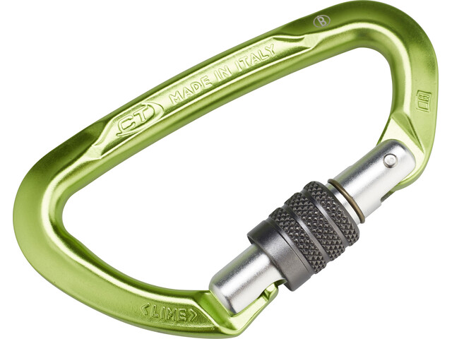 Climbing Technology Lime SG Mosquetón, green/grey
